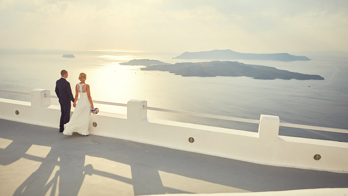 zdjęcie ślub na santorini